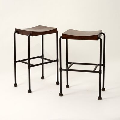 Pierre Chareau, 'Pair of MT 344 Bar Stools', 1926