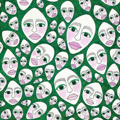 Elke Schmoelzer, 'stonesfaces_Masquerade', 2019