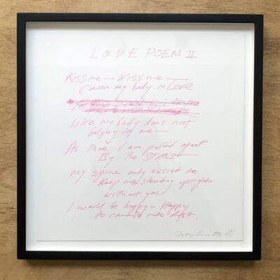 Tracey Emin, 'Love Poem II', 1996