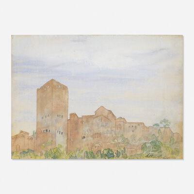 Arthur Bowen Davies, 'Untitled (town scene)'