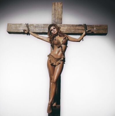 Terry O'Neill, 'Raquel Welch on the Cross, Los Angeles', 1970