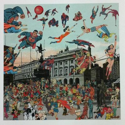 Peter Blake, 'London Piccadilly Circus. The Convention of Comic Book Characters'