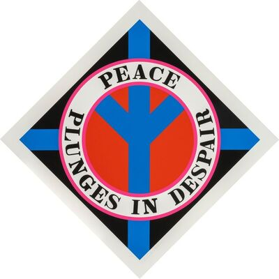 Robert Indiana, 'Peace Plunges In Despair', 2004