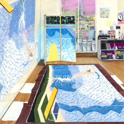 Damian Elwes, 'Hockney's Studio While Painting Paper Pools in 1978', 9