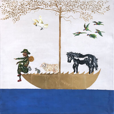 Gav Barbey, 'As he sat under the shade of the coolabah tree...and sailed towards that promised land...and they sung Waltzing Matilda...'