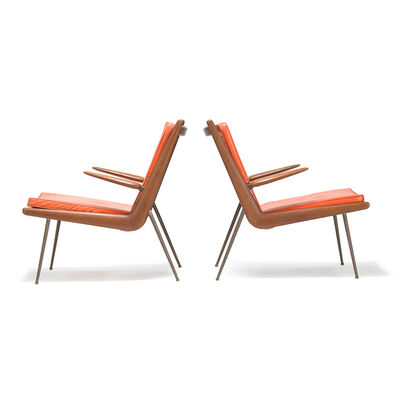 France and Sons, 'Two Boomerang lounge chairs, Denmark'