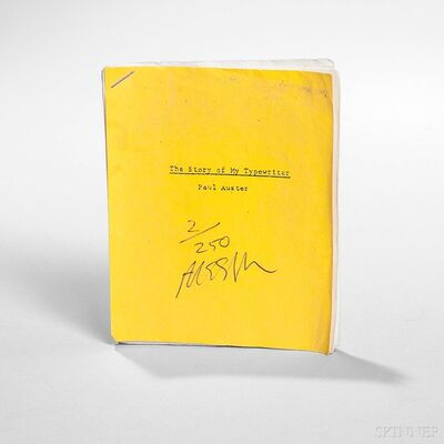 Sam Messer, 'The Story of My Typewriter', 2000