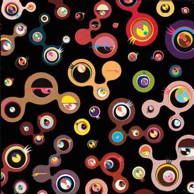 """Takashi Murakami, '""""Jellyfish Eyes - 4"""" Black   20""""x 20""""   Print', 2006"""