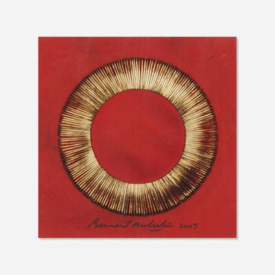 Bernard Aubertin, 'Dessin de Feu sur table rouge', 2009