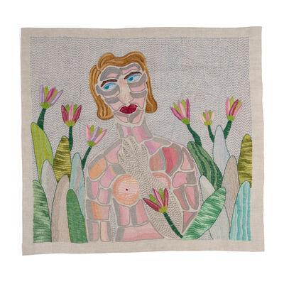 Paloma Castillo, 'Sin título (mujer con mano en el pecho)', 2018