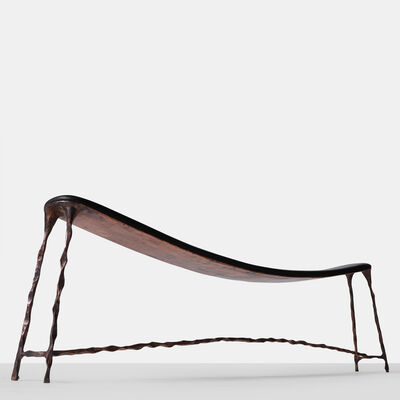 Valentin Loellmann, 'Copper & Oak Bended Bench', 2016