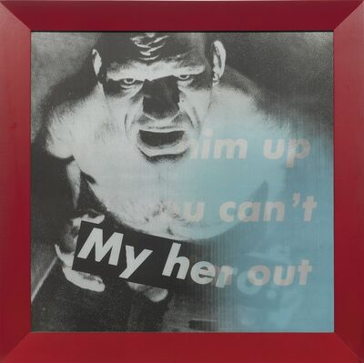 Barbara Kruger, 'Untitled (You Can Dress Him Up But You Can't Take Him Out; My Hero!)', 1986