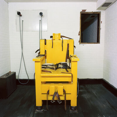 Lucinda Devlin, 'Electric Chair, Holman Unit, Atmore, Alabama', 1991