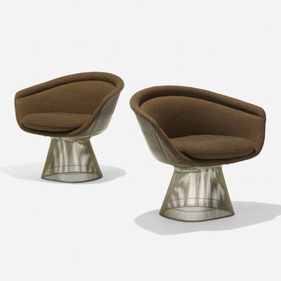 Warren Platner, 'lounge chairs, pair', 1966/1977