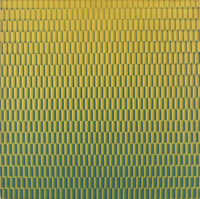François Morellet, '4 Trames de tirets du jaune au bleu, pivotées sur um côté', 1970