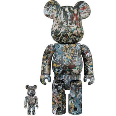 BE@RBRICK, 'Pollock 400% + 100% Version 2', 2018