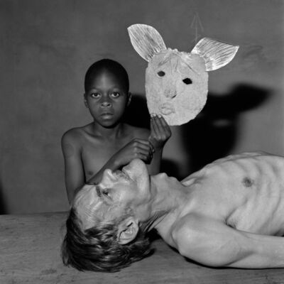 Roger Ballen, 'Tommy,samson and a mask', 2000