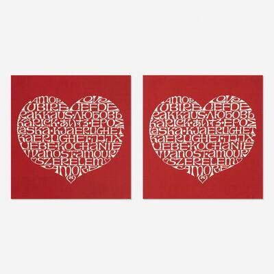 Alexander Girard, 'International Love Heart fabric panels, pair', 1972