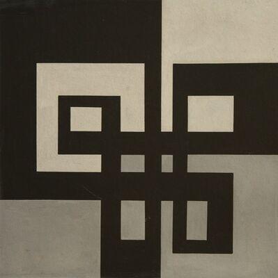 José Pedro Costigliolo, 'Forma negra con fondos grises', ca. 1950