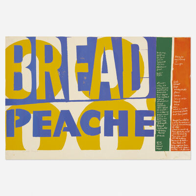 Corita Kent, 'peache bread', 1964