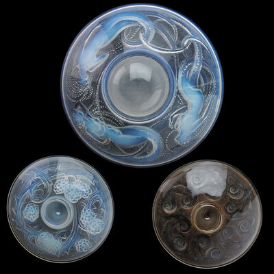 "Lalique, 'Three inkwells: ""Mûres,"" ""Escargots,"" ""Trois Sirenes""'"