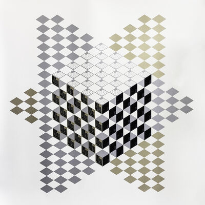 Lulwah Al Homoud, 'Cube Within Two Trian', 2016