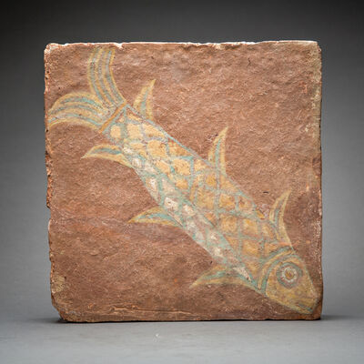 Unknown Assyrian, 'Assyrian Glazed Tile', 900 BC to 600 BC