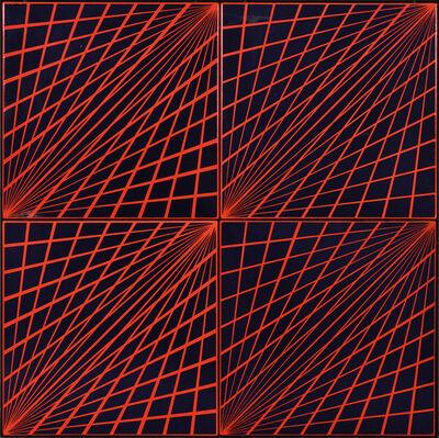 Károly Hopp-Halász, 'Radial Enamel (Red-Blue)', 1969