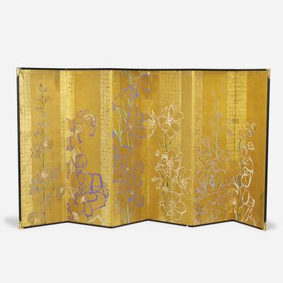 Robert Kushner, 'Delphiniums six-panel screen', 2001-03