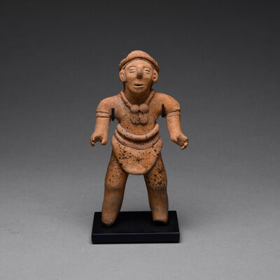 Colima Culture, 'Tuxcacuesco-Ortices Style Colima Terracotta Sculpture of a Standing Man', 300 BC to 300 AD