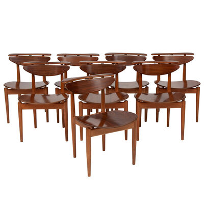 Finn Juhl, 'Set of eight chairs', 1963