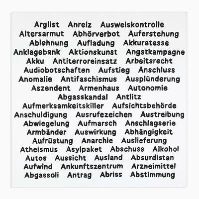 Käthe Kruse, 'Wörter A 3', 2020