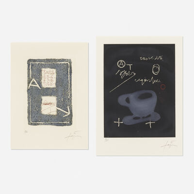 Antoni Tàpies, 'Tasse and Untitled (two works)', 1978