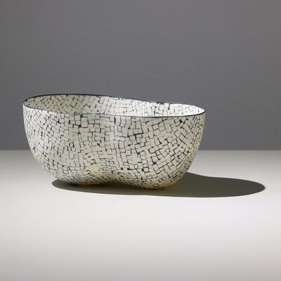 Mieke Everaet, 'DOUBLE PORCELAIN BOWL, BLACK & WHITE', 2019
