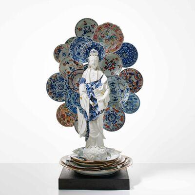 Bouke de Vries, 'Guan Yin with a Nimbus of Saucers', 2019