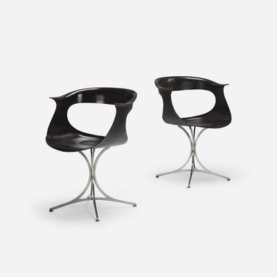 Erwine & Estelle Laverne, 'Lotus armchairs, pair', 1958