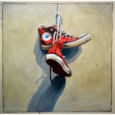 "Santiago Garcia, '""#519"" Vintage red Converse on Light Neutral Background', 2010-2017"