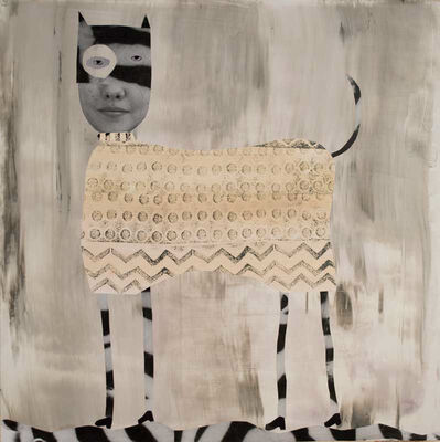 Holly Roberts, 'Spotted Cat with Stripes', 2018