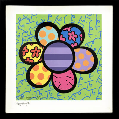 Romero Britto, 'FLOWER POWER (GREEN)', 2000