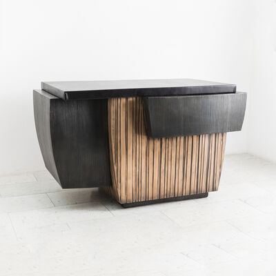 Gary Magakis, 'Blackened Steel and Layered Bronze Desk, USA', 2019