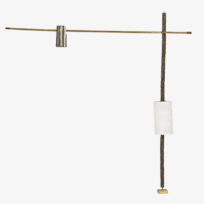 Paul Evans (1931-1987), 'Pole lamp with shade and pendant, New Hope, PA', 1960s