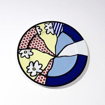 Roy Lichtenstein, 'Ohne Titel. Künstlerplatzteller', 1990