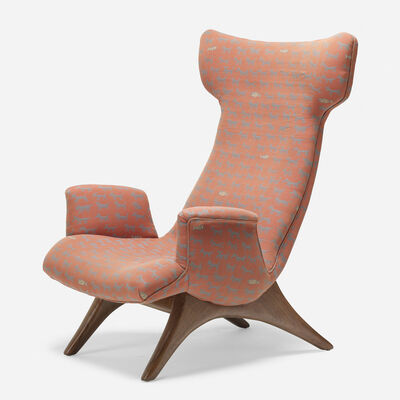 Vladimir Kagan, 'Wing lounge chair', 1958