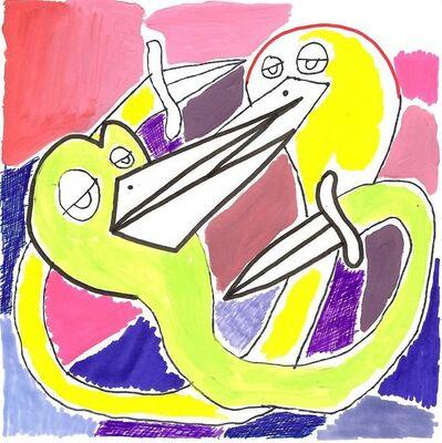 Okay Mountain, '7x7 Collaborative Drawing (#154)', 2012