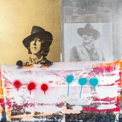 Zefrey Throwell, 'DREAM BATTLES: Oscar Wilde vs. John Wayne', 2014