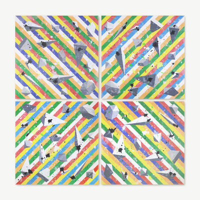 Tetsuya Fukushima, 'Borders and stripes', 2016