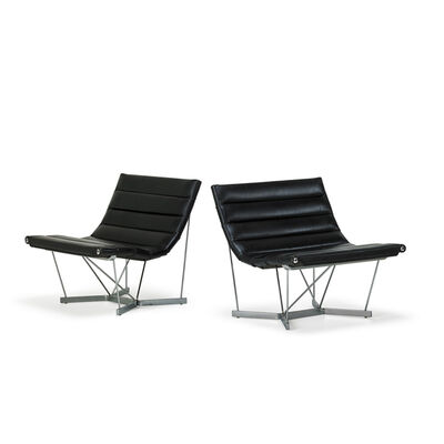 George Nelson, 'Pair Of Catenary Chairs, Zeeland, Mi', 1960s