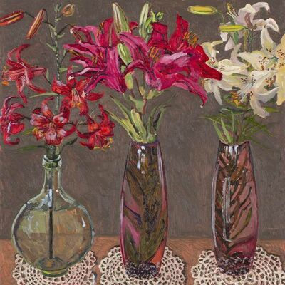 Lucy Culliton, 'Lillies, glass vessels', 2018