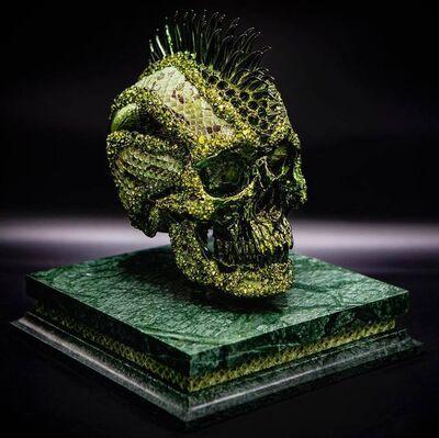 Jonas Leriche, 'Green Vanity Skull', 2019
