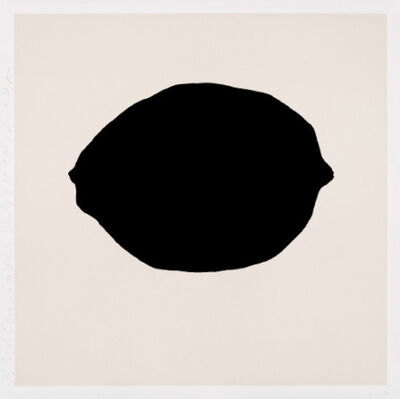 Donald Sultan, 'Donald Sultan, Black Lemon on White, July 24, 2018', 2018